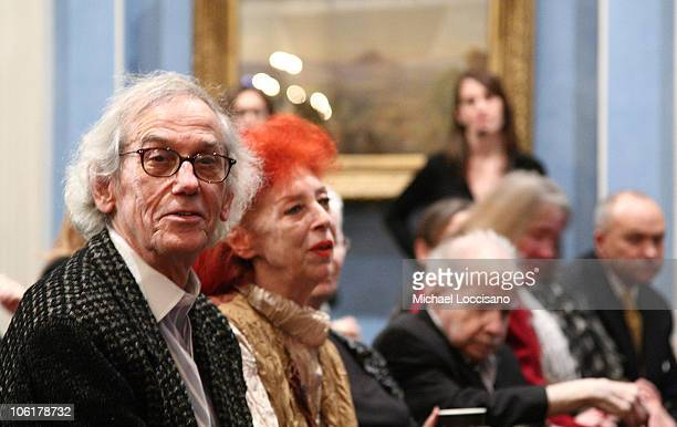 Artists Christo and JeanneClaude attend the HBO Documentary Films Screening of The Gates at Gracie Mansion in New York City on February 12 2008