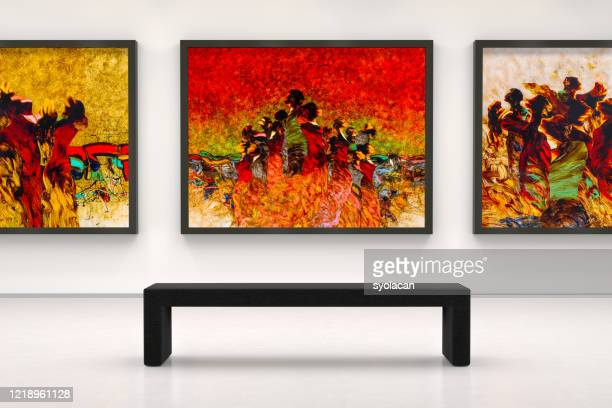 artist's collection in a art museum - art stock pictures, royalty-free photos & images