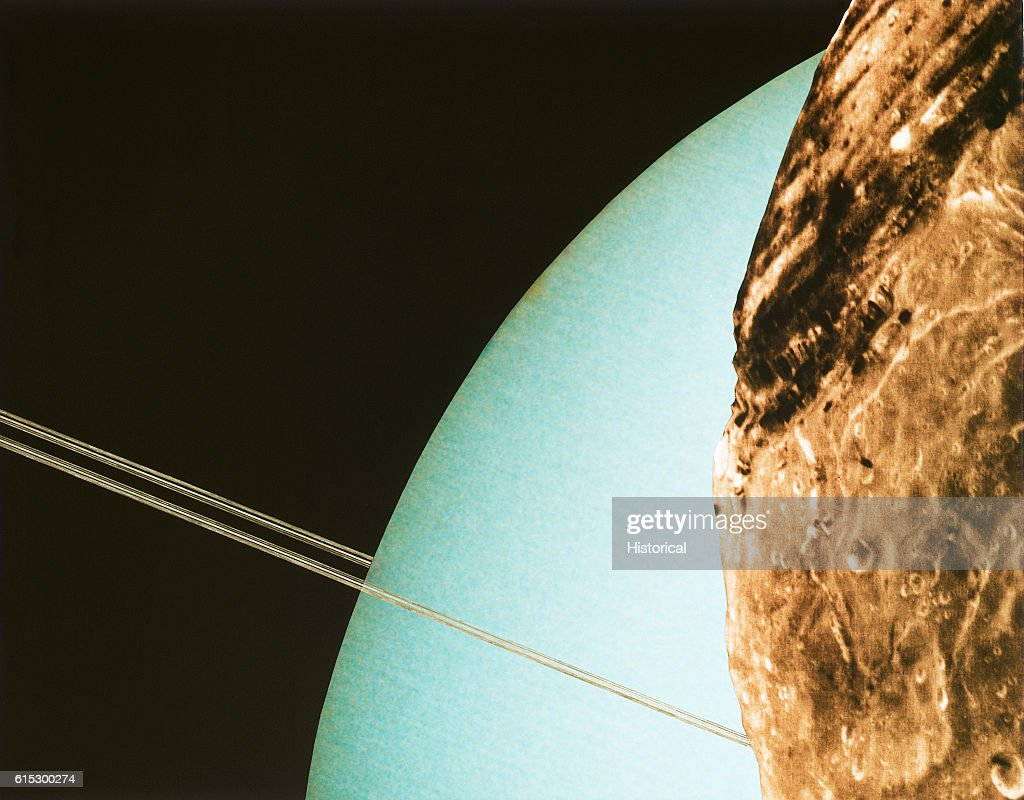Uranus Seen From Its Moon Miranda : News Photo