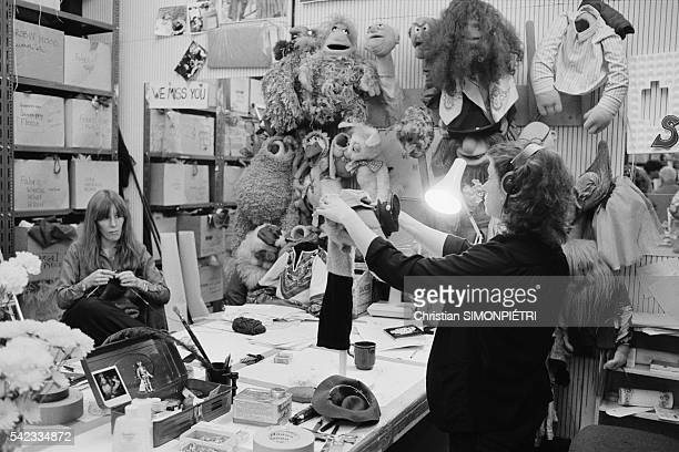Artists creating characters in the Muppet Show workshop