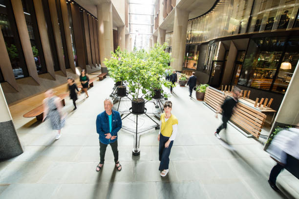 """GBR: """"Beuys' Acorns"""", A New Installation By Ackroyd & Harvey At Bloomberg Arcade"""