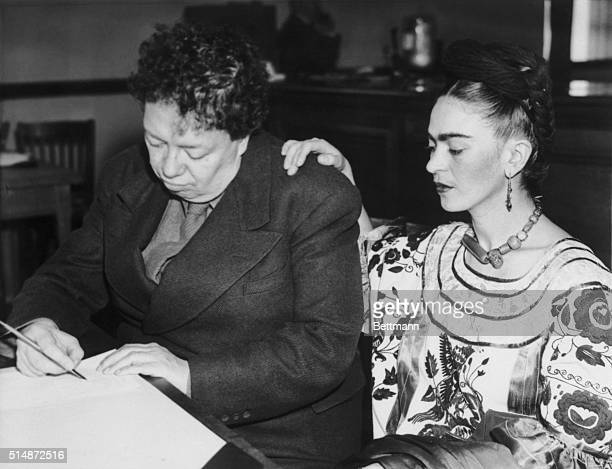 Artists Diego Rivera and Frida Kahlo divorced in 1939 but remarried on December 8 in San Francisco City Hall