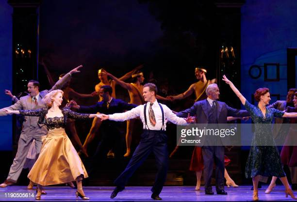 Artists Emily Ferranti as Milo Davenport and Ryan Steele as Jerry Mulligan perform during the musical comedy 'An American in Paris' at 'Theatre du...
