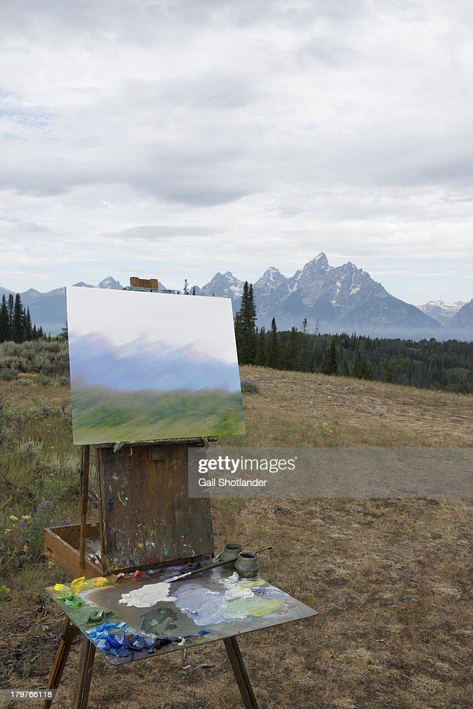 Artist's Foundation of the Grand Tetons : Stock Photo