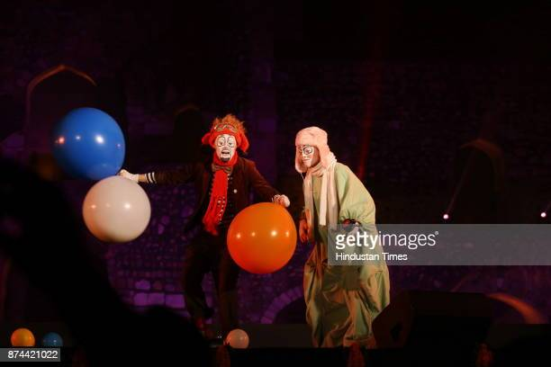 Artists from across the world perform during the 11th Delhi International Arts festival at Purana Qila on November 11 2017 in New Delhi India DIAF...
