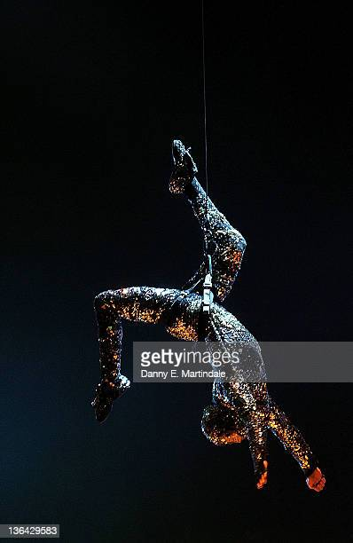 Artists from Cirque du Soleil Totem perform at Royal Albert Hall on January 4 2012 in London England