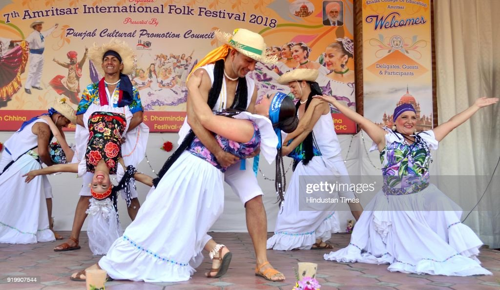 Artists From Costa Rica Perform At 7th Amritsar International Folk Festival