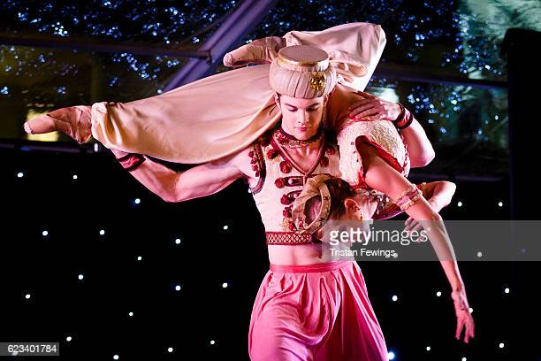 Artists from The Royal Ballet perform excerpts from The Nutcracker as the Covent Garden Christmas lights are switched on by The Royal Ballet and The...