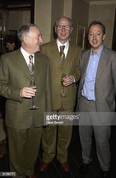 Artists Gilbert and George and Tatler Editor Geordie Greig attends the Tatler dinner at Floriana at the Beauchamp place on March 19 2003