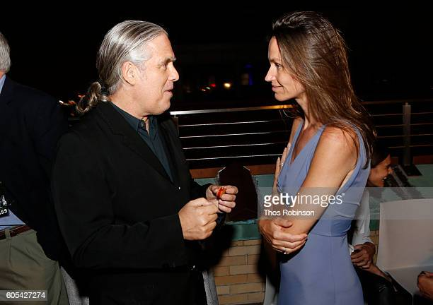 Artists Gregory Colbert and Anne de Carbuccia attend ONE One Planet One Future at Bank Street Theater on September 13 2016 in New York City
