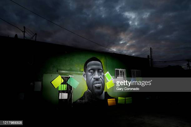 Artists have memorialized George Floyd who died while incustody of the Minneapolis Police with murals and street art along Wilmington Ave and 105th...