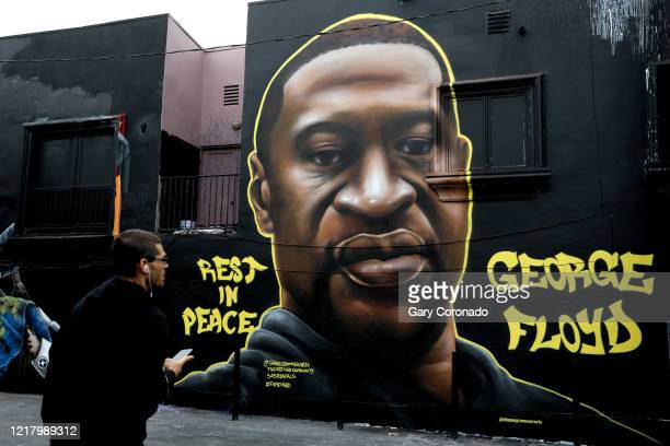 Artists have memorialized George Floyd who died while incustody of the Minneapolis Police with murals and street art in the Melrose District on...