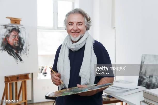 artists in the paintings - malerleinwand stock-fotos und bilder