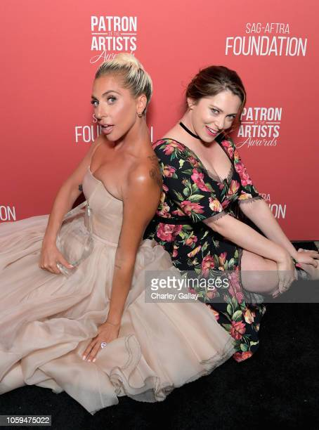 Artists Inspiration Award recipient Lady Gaga and show host Rachel Bloom attend the SAGAFTRA Foundation's 3rd Annual Patron of the Artists Awards at...