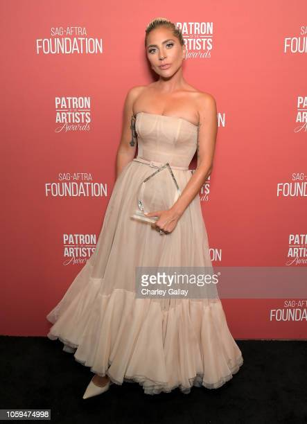 Artists Inspiration Award recipient Lady Gaga attends the SAGAFTRA Foundation's 3rd Annual Patron of the Artists Awards at the Wallis Annenberg...