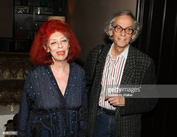 Artists JeanneClaude and Christo attend the Chanel Dinner held at the Greenwich Hotel during the 2008 Tribeca Film Festival on April 28 2008 in New...