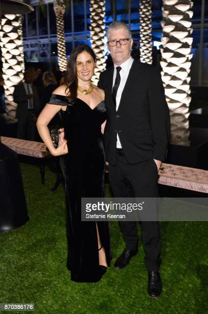 Artists Jennifer Guidi and Mark Grotjahn attend the 2017 LACMA Art Film Gala Honoring Mark Bradford and George Lucas presented by Gucci at LACMA on...