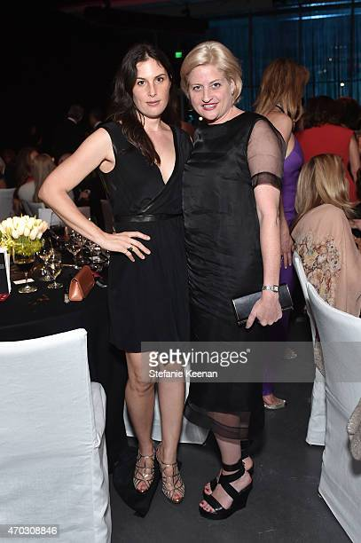 Artists Jennifer Guidi and Sarah Watson attend LACMA's 50th Anniversary Gala sponsored by Christie's at LACMA on April 18 2015 in Los Angeles...
