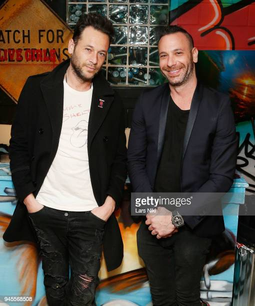 Artists Jeremy Penn and Phil Reese attend the Sold Out Art Auction To Benefit Camp For Children With Cancer on April 12 2018 in Glen Cove New York