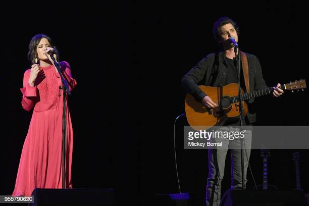 Artists Jillian Jacqueline and Steve Moakler perform onstage during the 3rd Annual AIMP Awards at Ryman Auditorium on May 7 2018 in Nashville...