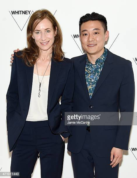 Artists Josephine Meckseper and Cory Nomura attend the Max Mara, celebration of the opening of The Whitney Museum Of American Art at its new location...