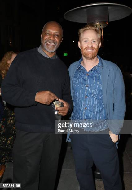 Artists Kerry James Marshall and Thomas Houseago attend MOCA's Leadership Circle and Members' Opening of Kerry James Marshall Mastry at MOCA Grand...