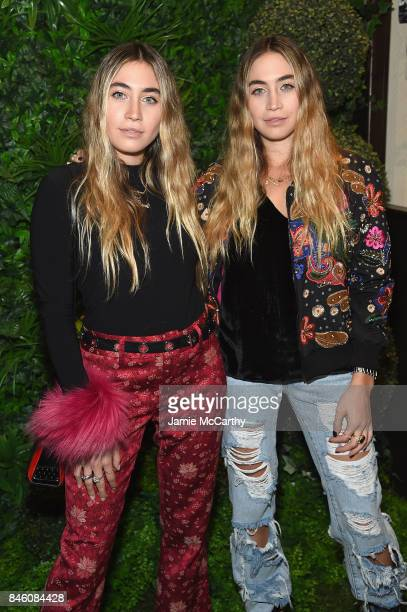 Artists Lexi Kaplan Allie Kaplan attends Alice Olivia By Stacey Bendet fashion show during September 2017 New York Fashion Week The Shows at Gallery...