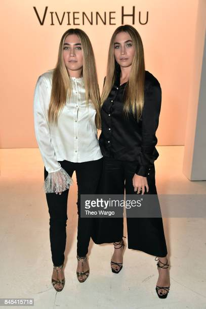 Artists Lexi Kaplan and Allie Kaplan attend Vivienne Hu fashion show during New York Fashion Week The Shows at Gallery 3 Skylight Clarkson Sq on...