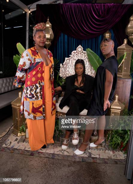 Artists Mahogany Browne Sade Joseph and Theresa Chromati attend Spotify Honors Black Female Creatives For Black History Is Happening Now Campaign on...