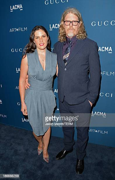 Artists Mark Grotjahn and Jennifer Guidi attend the LACMA 2013 Art Film Gala honoring Martin Scorsese and David Hockney presented by Gucci at LACMA...