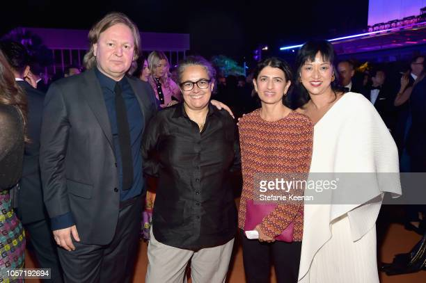 Artists Mathew Hale Tacita Dean Toba Khedoori and LACMA Curator Christine Y Kim attend 2018 LACMA Art Film Gala honoring Catherine Opie and Guillermo...