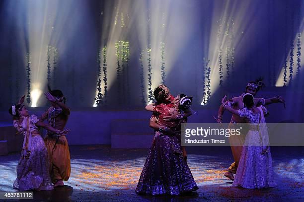 Artists of Shri Ram Bharatiya Kala Kendra performing the play Krishna on the occasion of Janmashtami Festival on August 18 2014 in New Delhi India...
