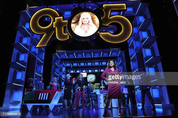 Artists of the company in 9 To 5 The Musical directed by Jeff Calhoun at The Savoy Theatre on February 14 2019 in London England