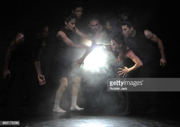 Artists of the company in Acosta Danza's production of Goyo Montero's Imponderable at Sadler's Wells Theatre on September 26 2017 in London England