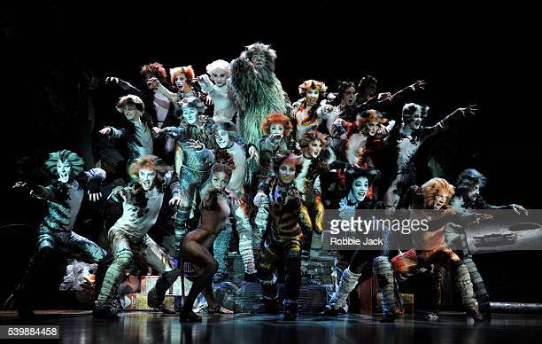 Artists of the company in Andrew Lloyd Webber's Cats directed by Trevor Nunn at the London Palladium.