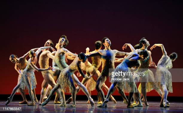 Artists of the company in Christopher Wheeldons Within the Golden Hour at The Royal Opera House on May 7 2019 in London England