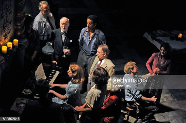 Artists of the company in Conor McPherson's Girl from the North Country directed by Conor McPherson at The Old Vic Theatre on July 25 2017 in London...