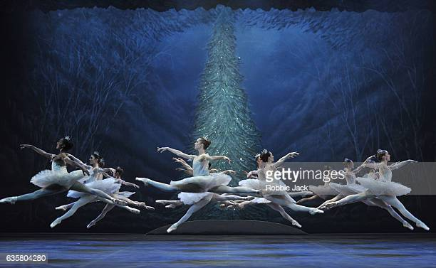 Artists of the company in English National Ballet's production of Wayne Eagling's The Nutcracker at The London Coliseum on December 13 2016 in London...