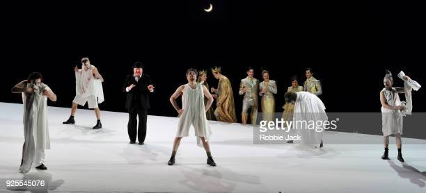 Artists of the company in English National Opera's Production Of Benjamin Britten's A Midsummer Night's Dream directed by Robert Carsen and conducted...