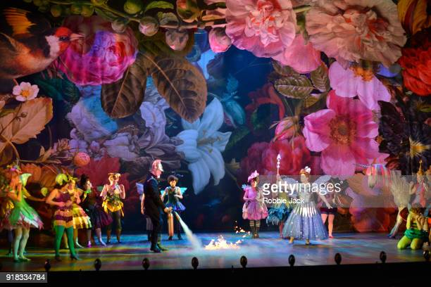 Artists of the company in English National Opera's production of Gilbert and Sullivan's Iolanthe at The London Coliseum on February 12 2018 in London...