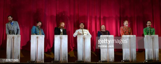 Artists of the company in English National Opera's production of Franz Lehar's The Merry Widow directed by Max Webster and conducted by Kristiina...
