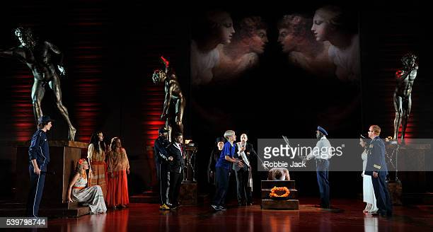 Artists of the company in Garsington Opera's production of Antonio Vivaldi's L'Olimpiade directed by David Freeman and conducted by Laurence Cummings...