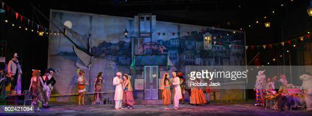 Artists of the company in Garsington Opera's production of Gioachino Rossini's Il 'Turco in Italia directed by Martin Duncan and conducted by David...