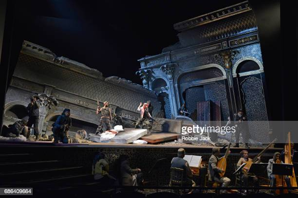 Artists of the company in Glyndebourne's production of Francesco Cavalli's Hipermestra directed by Graham Vick and conducted by William Christie at...