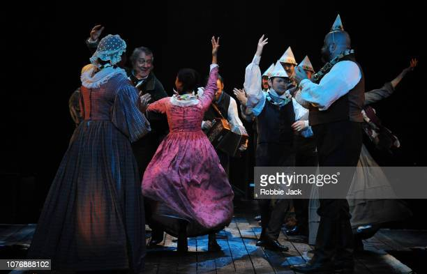 Artists of the company in Jack Thornes adaptation of Charles Dickens' A Christmas Carol directed by Matthew Warchus at The Old Vic Theatre on...