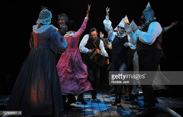Artists of the company in Jack Thorne's adaptation of Charles Dickens' A Christmas Carol directed by Matthew Warchus at The Old Vic Theatre on...