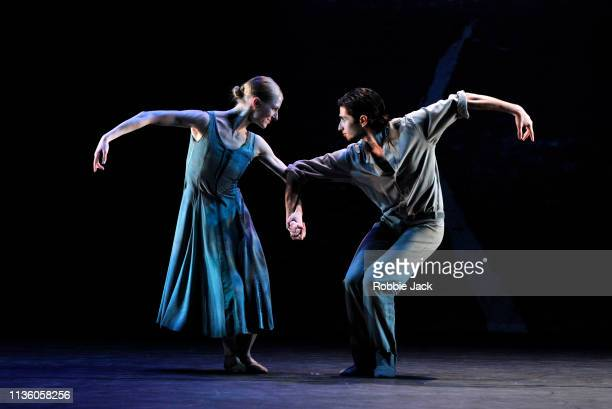 Artists of the company in Jiri Kylian's Lieder Eines Fahrenden Gesellen part of the Dutch Masters programme presented by Introdans at The Linbury...