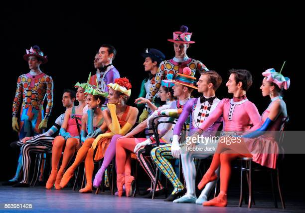 Artists of the company in Kenneth MacMillan's Elite Syncopations at The Royal Opera House on October 18 2017 in London England