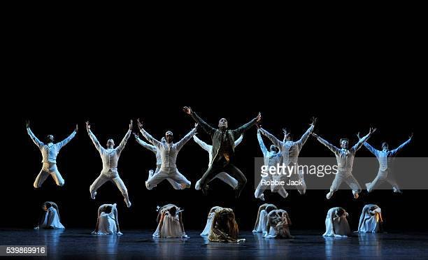 Artists of the company in Les Ballets de Monte Carlo's production of Jean-Christophe Maillot's LAC at the London Coliseum.
