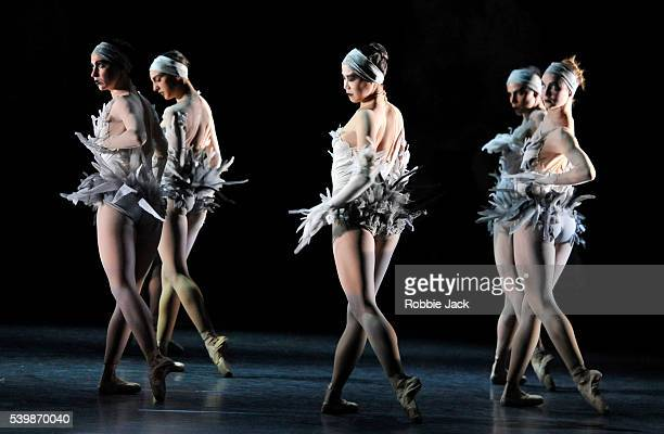 Artists of the company in Les Ballets de Monte Carlo's production of JeanChristophe Maillot's LAC at the London Coliseum